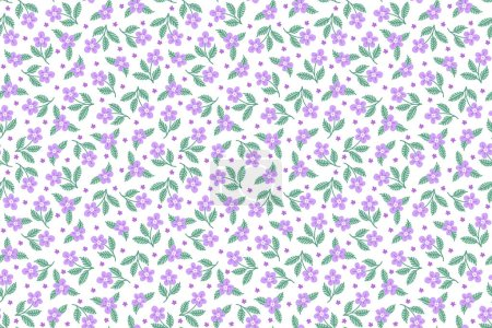 Illustration for Seamless pattern with decorative floral background vector illustration - Royalty Free Image