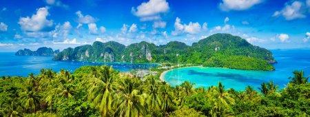 Panorama der tropischen Inseln