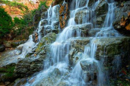 Photo for Small waterfall stream cascade. Seoul, South Korea - Royalty Free Image