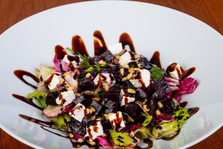 Delicious roated beet salad with cheese