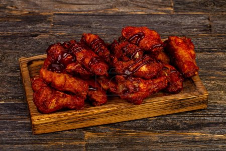 Buffalo chicken wings bbq with sauce