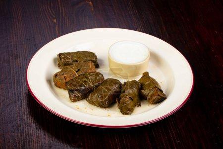 Caucasian cuisine Dolma with meat