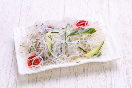 Pickled glass noodles in the bowl