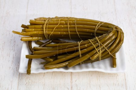 Photo for Tasty tied up wild leek - Royalty Free Image