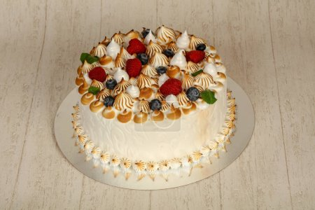 Photo for Wedding cake with berries and cream - Royalty Free Image