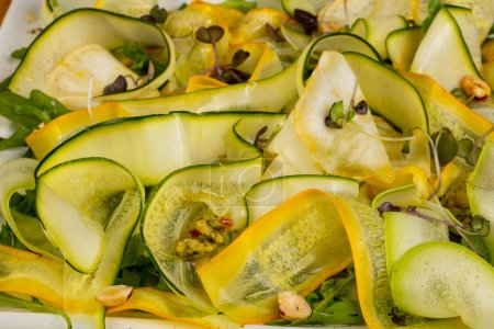 Carpaccio zucchini with herbs and spices