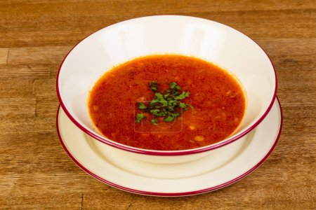 Photo for Caucasian spicy Kharcho soup with meat - Royalty Free Image