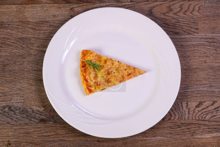 Hot Margarita pizza served rosemary