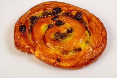 Photo pour Escargot cuit au four avec raisin et shugar - image libre de droit