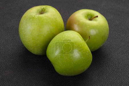 Photo for Green ripe sweet juicy apple - Royalty Free Image
