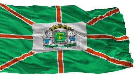 Bandera de la ciudad de Goiania, Brasil, aislada sobre fondo blanco