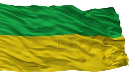 Junin City Flag, Colombia, Cundinamarca Department, Isolated On White Background