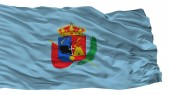 Cajamarca City Flag, Peru, Isolated On White Background