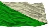 Huanuco City Flag, Peru, Isolated On White Background