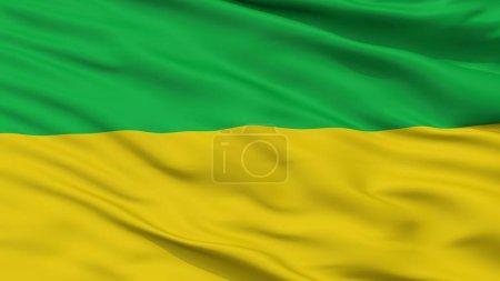 Junin City Flag, Colombia, Cundinamarca Department, Closeup View