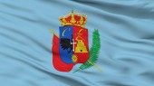 Cajamarca City Flag, Peru, Closeup View