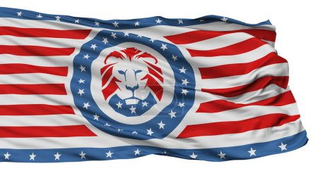 Trump Party Isolated Flag With White Background, 3D Rendering