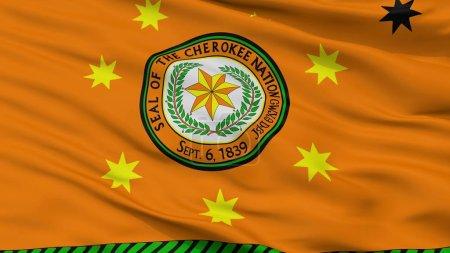 Photo pour Drapeau indien Cherokee Nation, vue, rendu 3d - image libre de droit