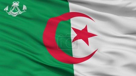 Photo pour Algérie drapeau Naval de Ensign, vue, rendu 3d - image libre de droit