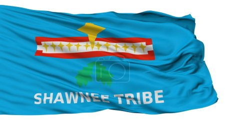 Shawnee Tribe Of Oklahoma Indian Flag, Isolated On White Background, 3D Rendering