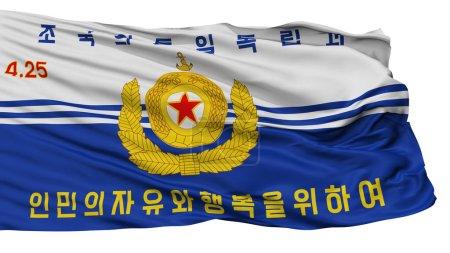 Photo pour Les peuples coréen drapeau marine, isolée On White Background, rendu 3d - image libre de droit