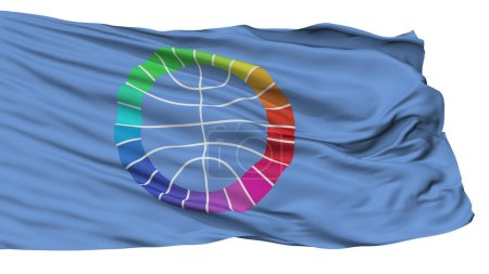 Photo pour Pas représenté le drapeau des Nations Unies, isolée On White Background, rendu 3d - image libre de droit