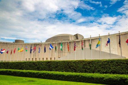 Photo pour NEW YORK CITY, États-Unis - 15 MARS 2020 : Siège des Nations Unies à New York, États-Unis - image libre de droit