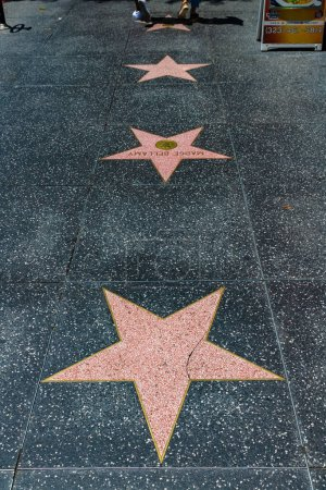 Photo for LOS ANGELES, HOLLYWOOD, USA - MARCH 29, 2020: Empty star on Hollywood Walk of Fame in Los Angeles, California, USA - Royalty Free Image