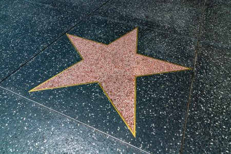 Photo for LOS ANGELES, HOLLYWOOD, USA - MARCH 29, 2020: Single Empty star on Hollywood Walk of Fame in Los Angeles, California, USA - Royalty Free Image