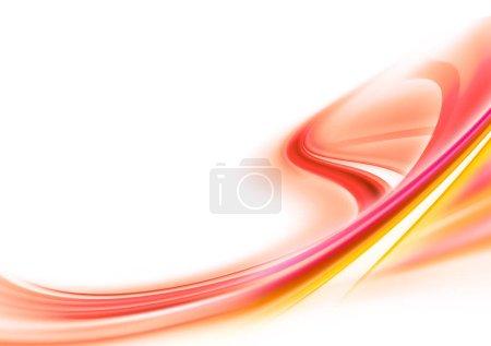 leuchtend rot und gelb moderner futuristischer Hintergrund mit abstrakten Wellen