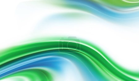 Photo for Bright blue and green modern futuristic background with abstract waves - Royalty Free Image