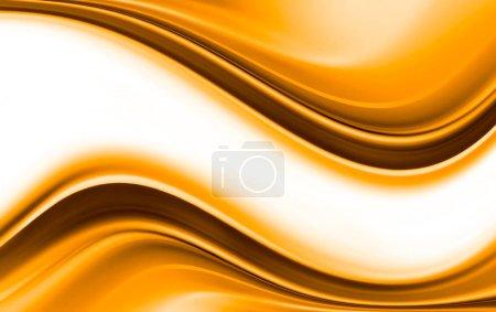 helles Gold und weißer moderner futuristischer Hintergrund mit abstrakten Wellen