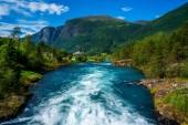 Постер Красивая природа Норвегии природный ландшафт