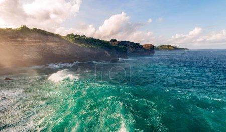 ocean coast island original panorama