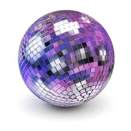 Photo pour Boule disco. Image 3D. Fond blanc . - image libre de droit