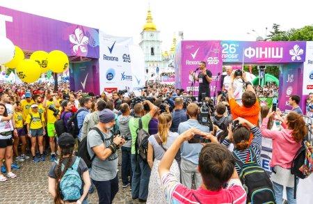 KYIV, UKRAINE - JUNE 3, 2018: Mayor of Kyiv Vitali Klitschko opens the 26th Kyiv Chestnut Charity Run 2018