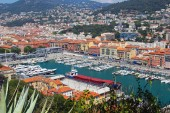 Aerial view of Port of Nice, Cote d'Azur, France