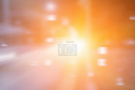 Abstract motion speed background with bokeh defocused lights and shadow