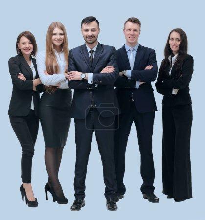 Photo pour Concept de réussite en affaires. équipe d'affaires réussie - image libre de droit