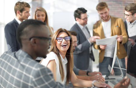 multi-ethnic business team in the workplace