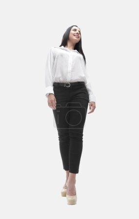 Photo for In full growth. successful young woman. photo has blank space - Royalty Free Image