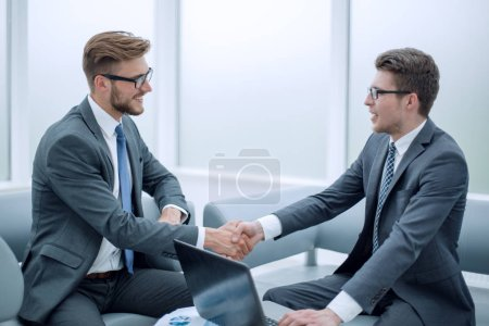 Photo for Close up. businessman shaking hands with business partner.the concept of cooperation - Royalty Free Image