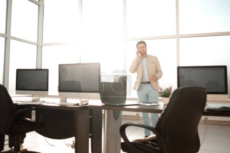 background image of a modern office