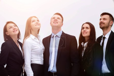 employees are confidently looking forward