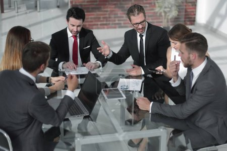 businessman at a working meeting with the business team