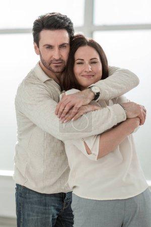 portrait of a happy couple.