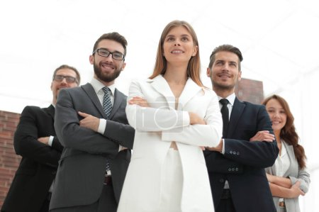 Photo for Successful business team standing in the office.photo with copy space - Royalty Free Image