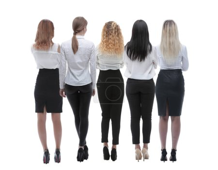 Photo for Back view group of business people. Rear view - Royalty Free Image