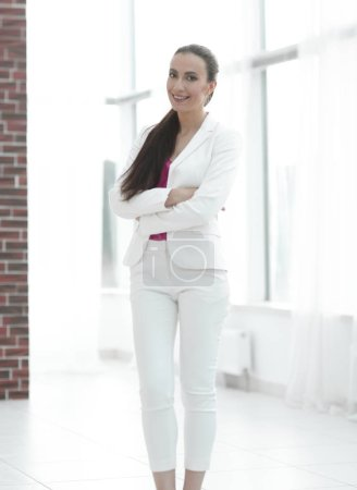 portrait of novice business women in office