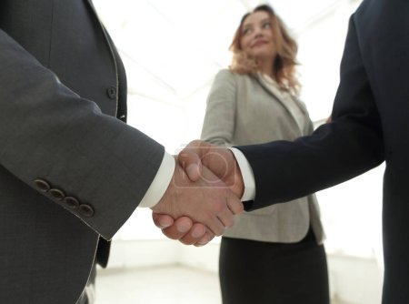 Photo for Businessmen shaking hands making an agreement - Royalty Free Image